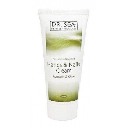 Мультивитаминный питательный крем для рук и ногтей с маслами авокадо и оливы Dr.Sea (Доктор Си) 200 мл