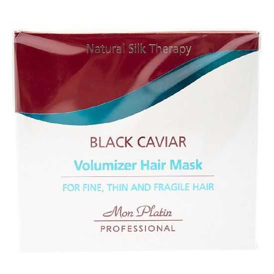 Маска с экстрактом чёрной икры для объёма тонких и ломких волос Mon Platin Professional (Мон Платин Профешнл) 500 мл