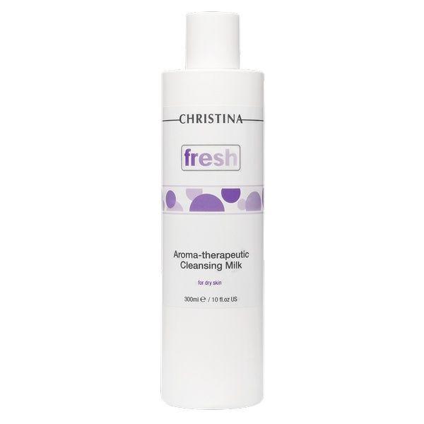 Ароматерапевтическое очищающее молочко для сухой кожи лица Christina (Кристина) 300 мл