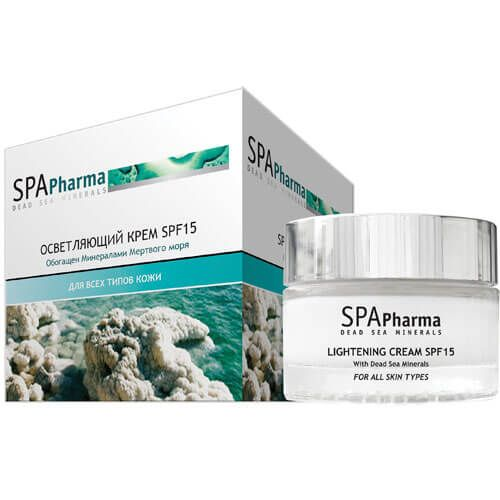 Осветляющий крем для лица spf 15 для всех типов кожи SpaPharma (Спа Фарма) 50 мл